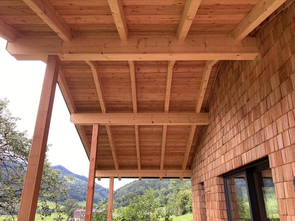 Thoma Holz100 Holz mit Lärchernfassade